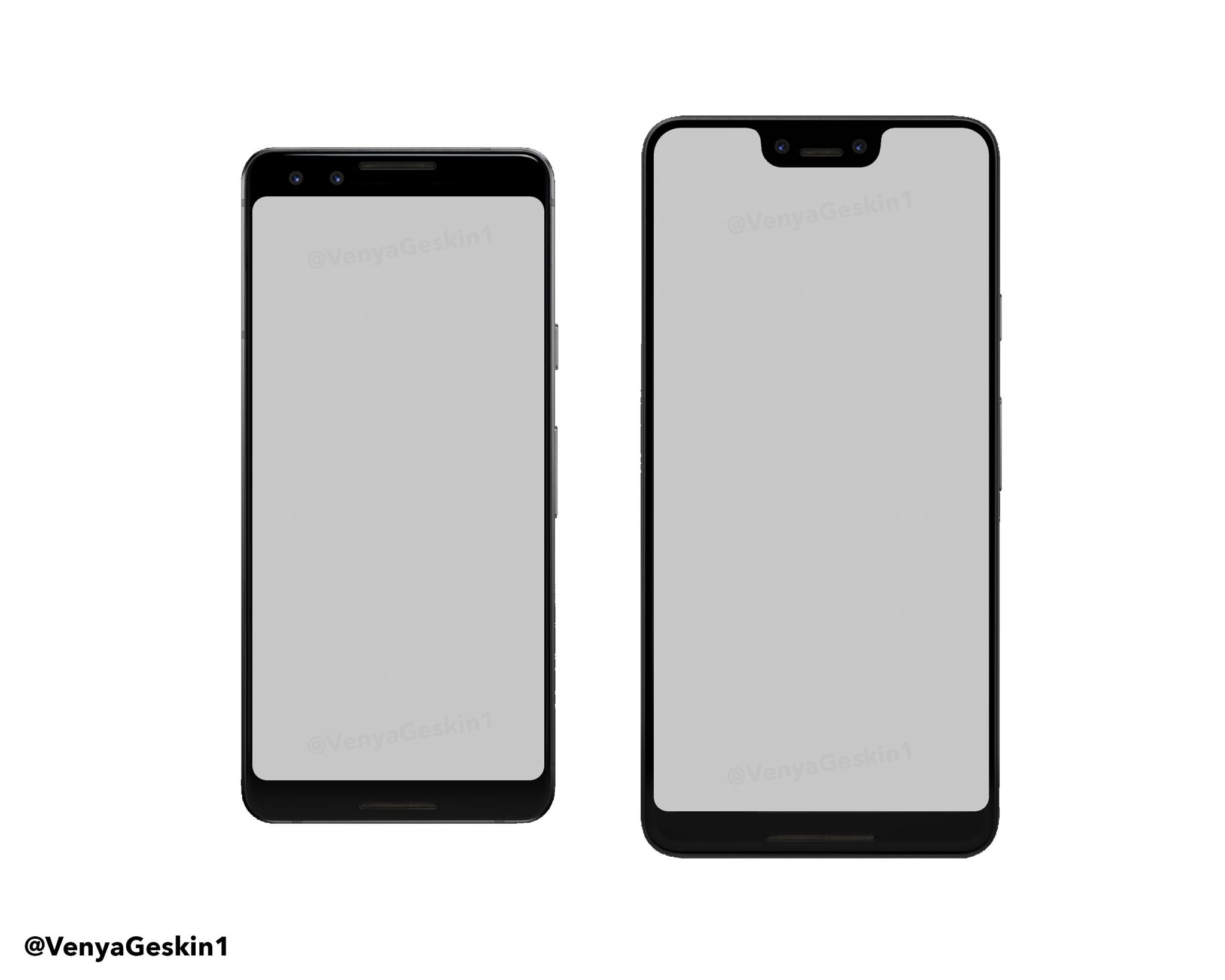 pixel 3 leaks shows the notch