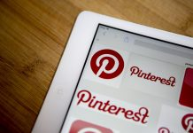 An image of Pinterest on an iPad