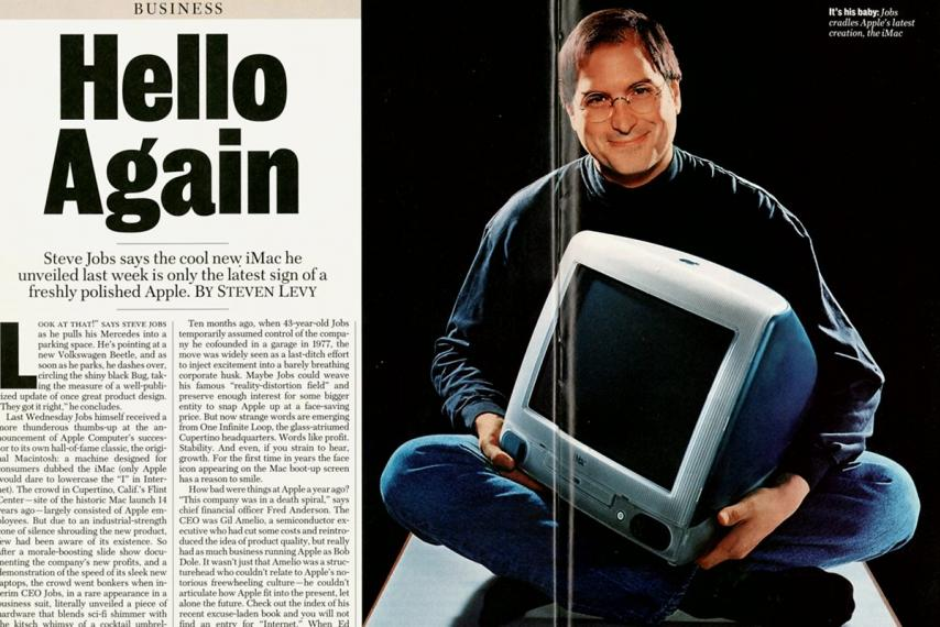 Steve Jobs featured in a mag