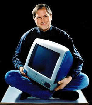 Steve Jobs with the iMac