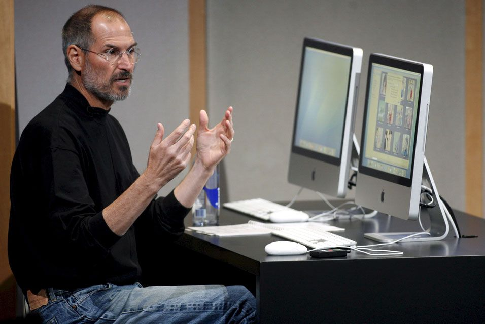 Steve Jobs talking about the Aluminium iMacs