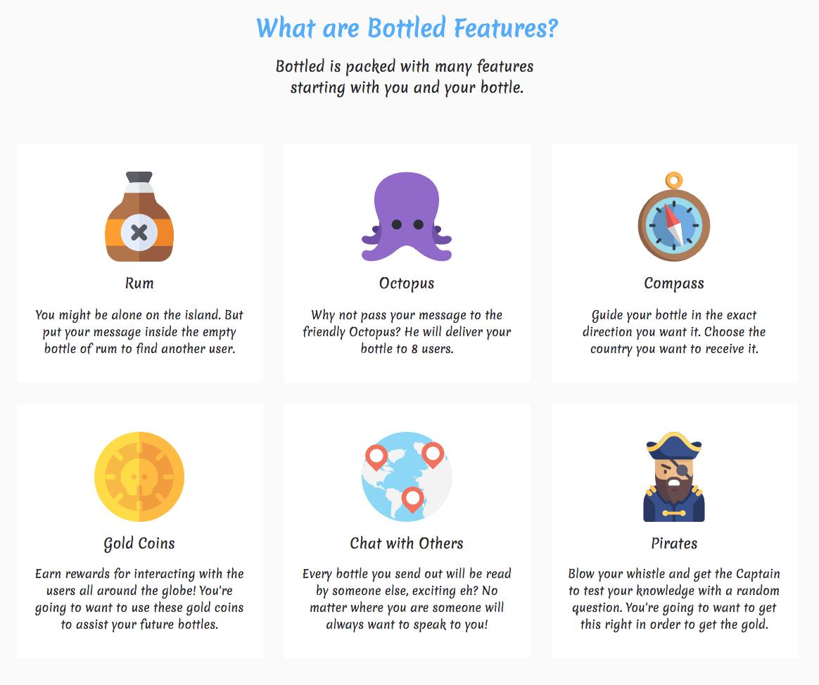 Bottled App Features