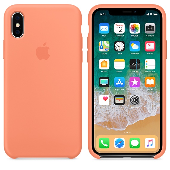 iPhone X Silicone Peach Case