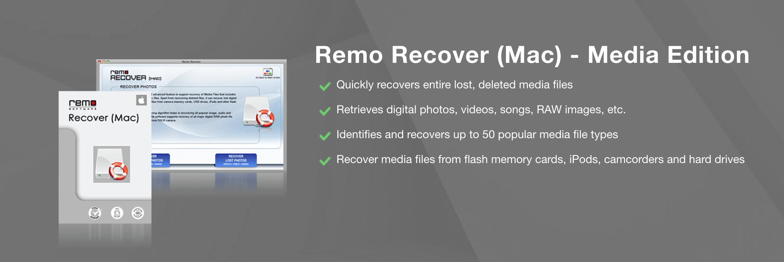 Remo Recover (Mac) - Media Edition