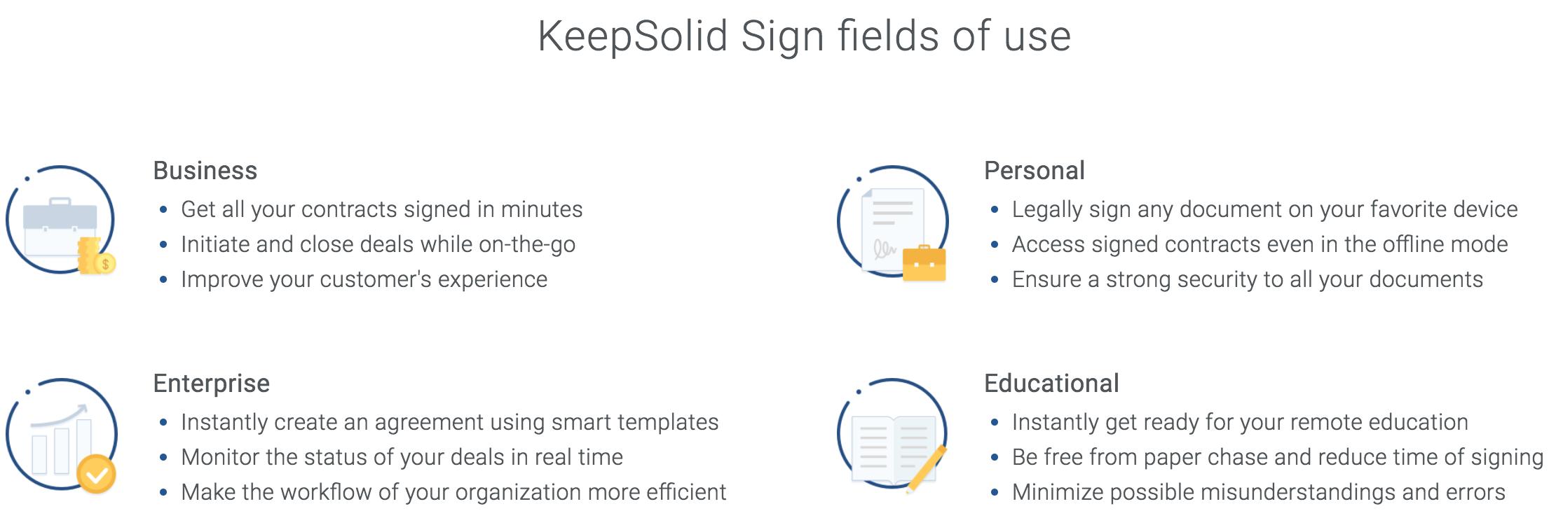 KeepSolid Sign fields