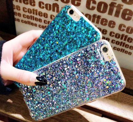 Bling Glitter Case in Blue