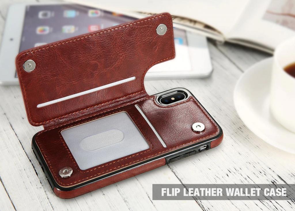 Flip Leather Wallet Case