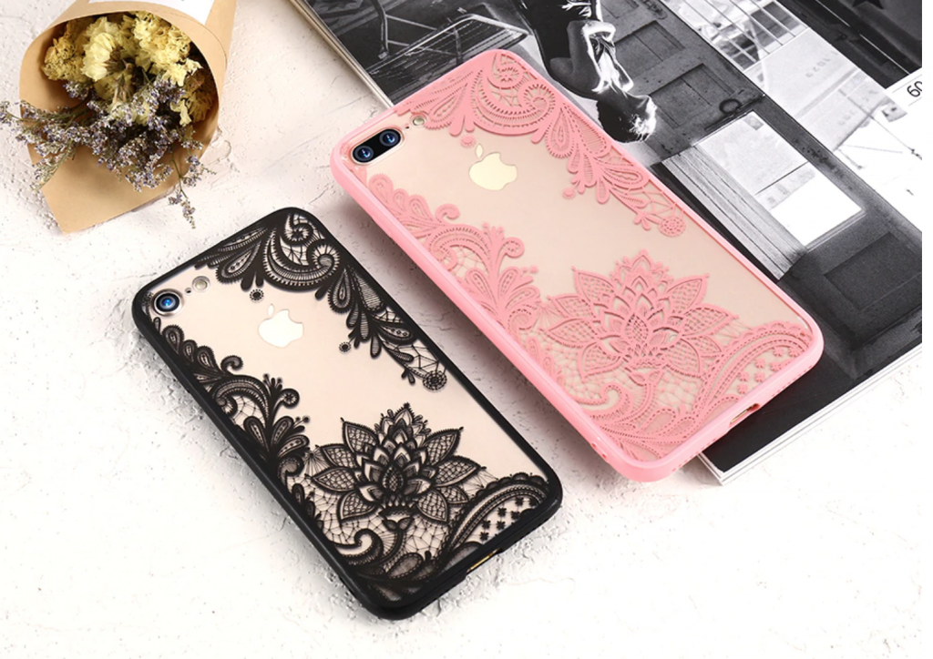 Luxury Thin Flower Case for girls
