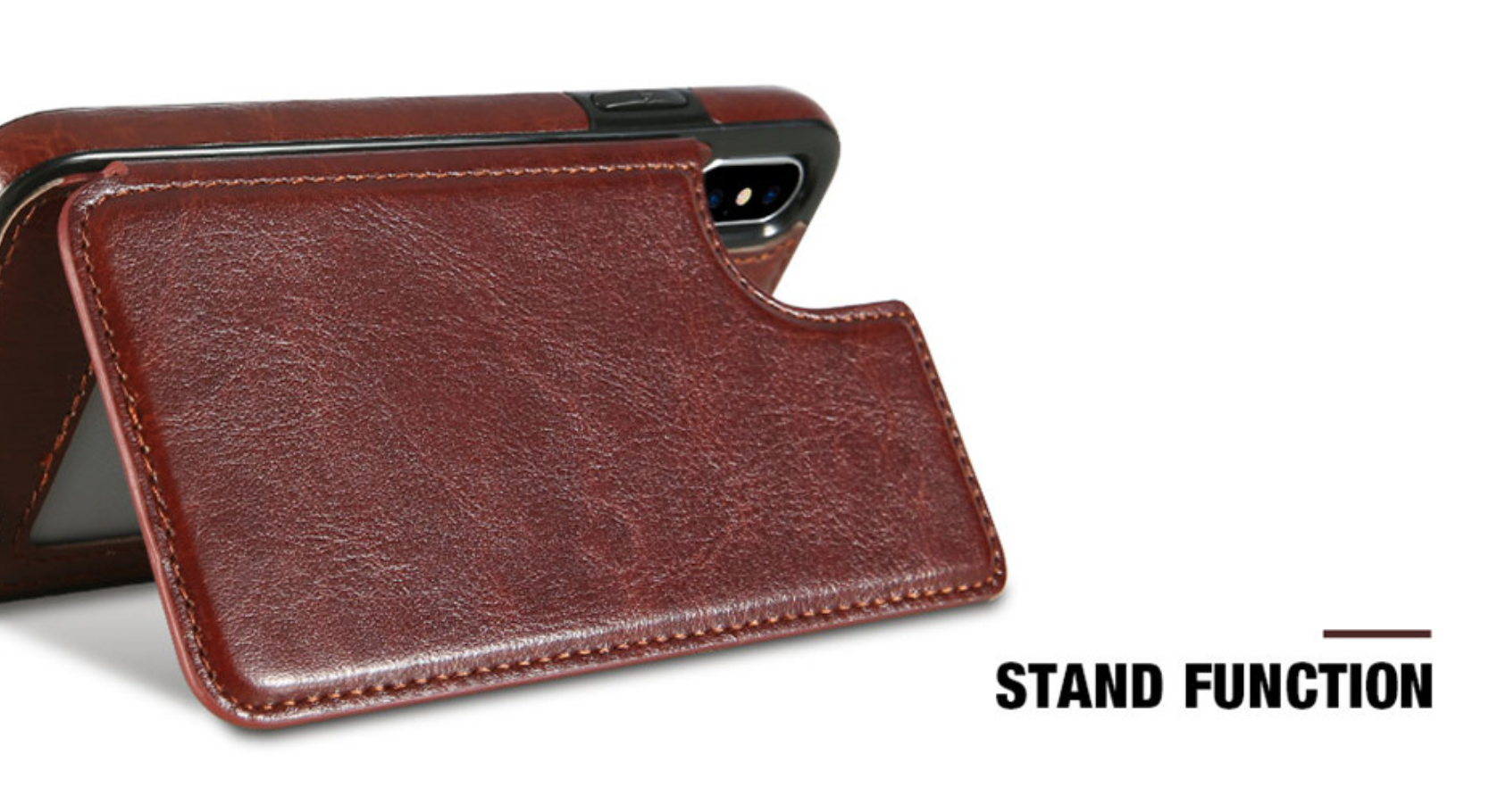 Back Flip Leather Wallet Case