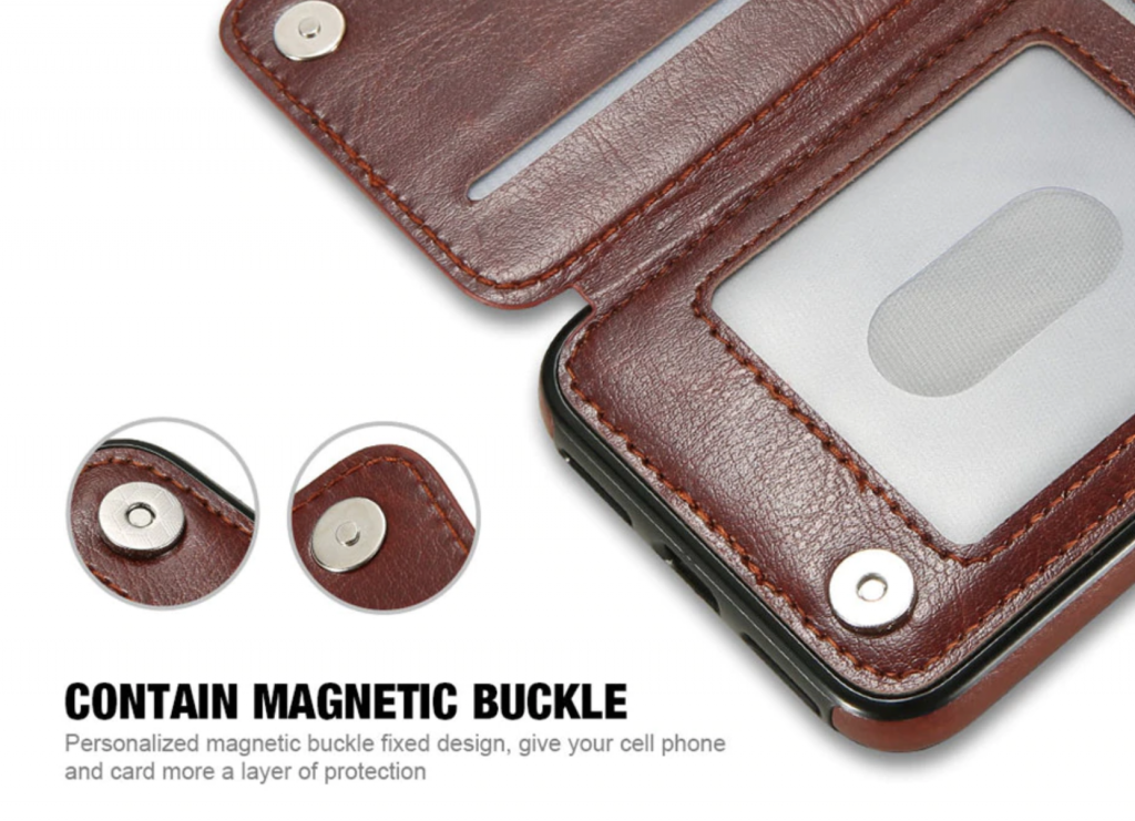 Inside Flip Leather Wallet Case