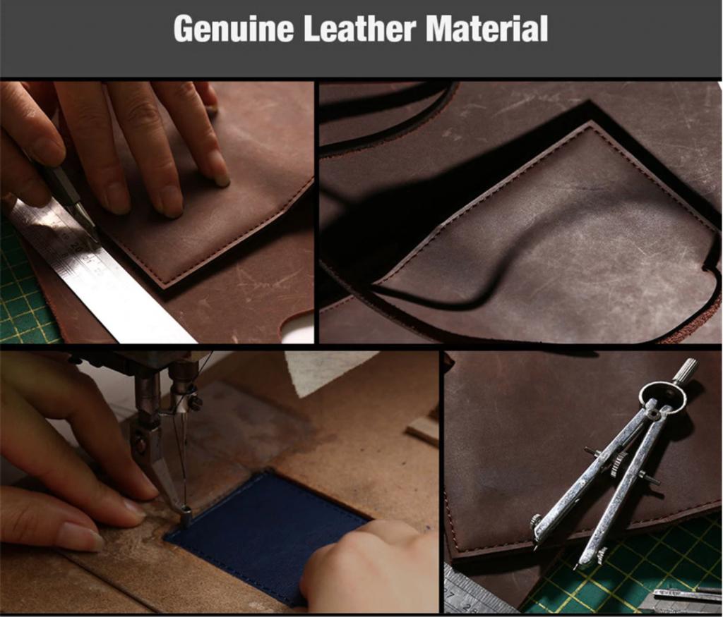 Pure Leather Flip Wallet Case