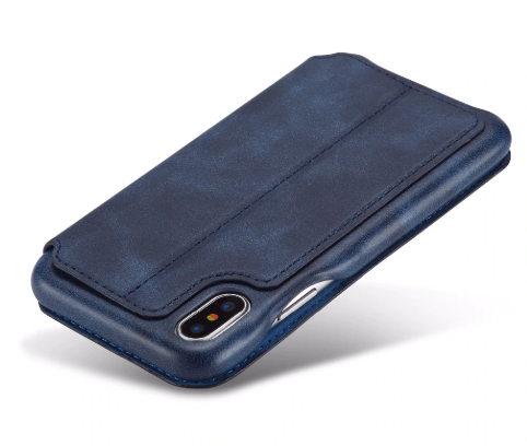 Flip Stand Leather Wallet Case Blue Back