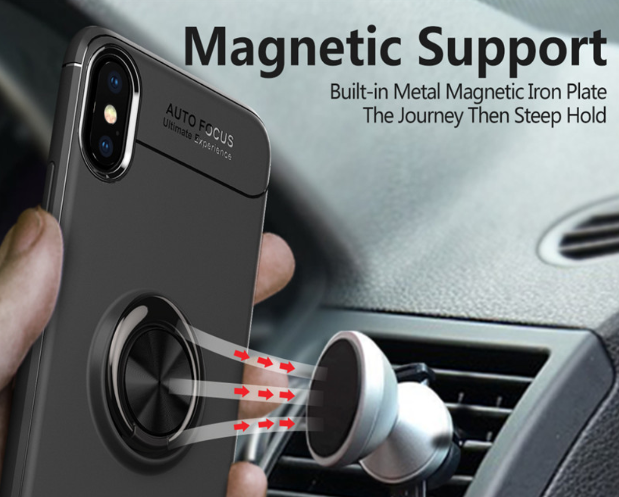Soft Silicone Magnetic Ring Case in a Car