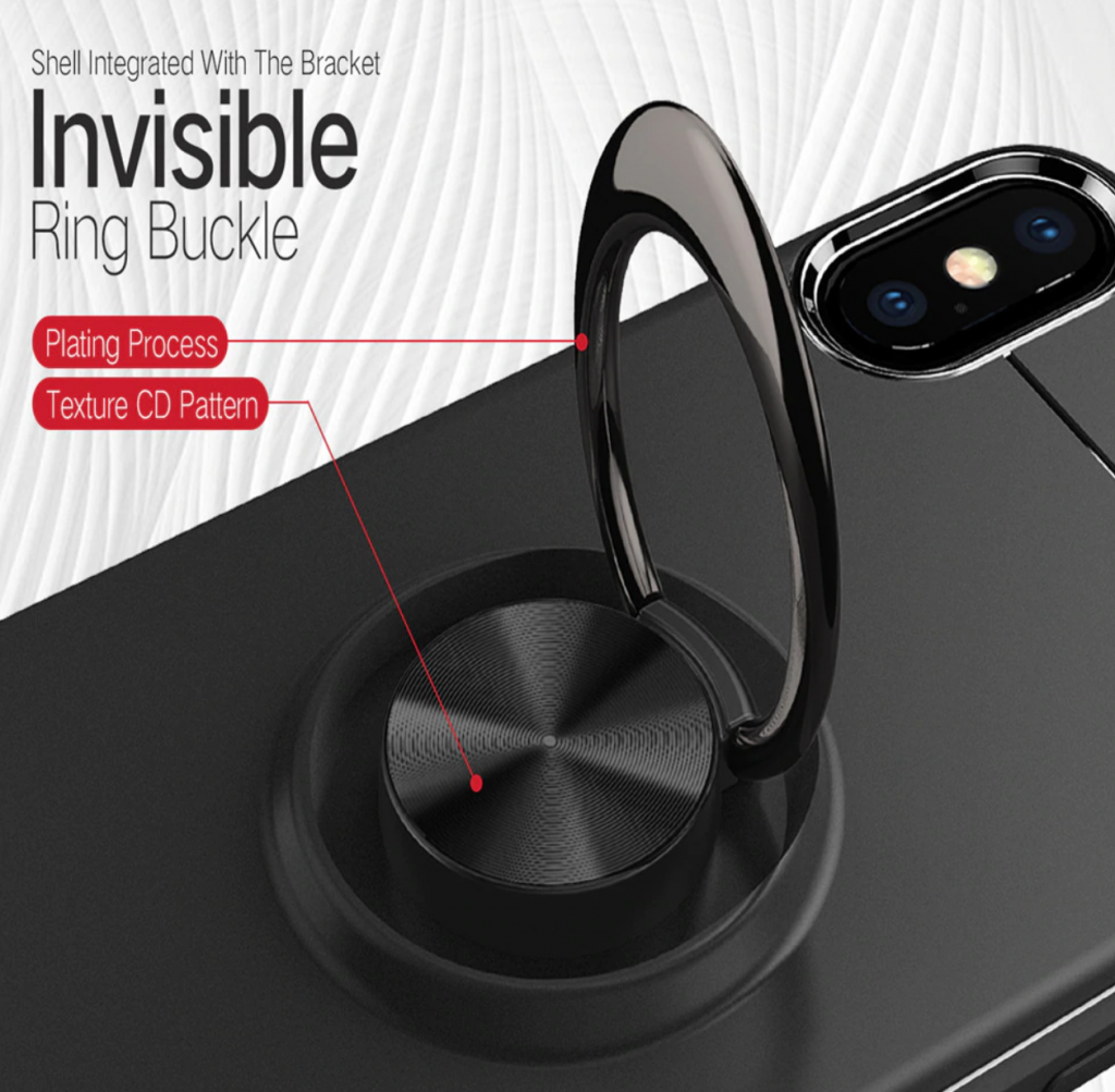 Soft Silicone Magnetic Ring Case Layout