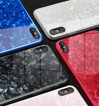Multi Coloured Tempered Glass Case