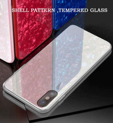 White with Multi Coloured Tempered Glass Case
