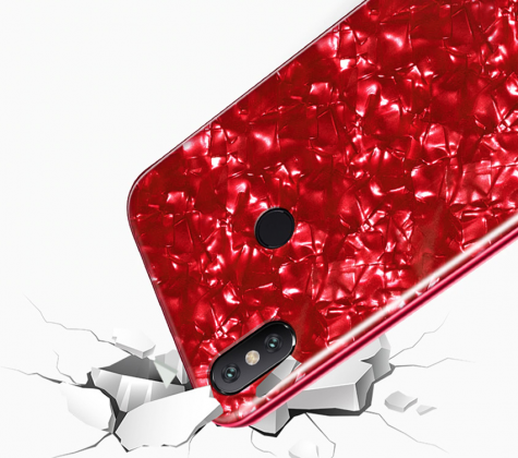 Cracked Tempered Glass Case