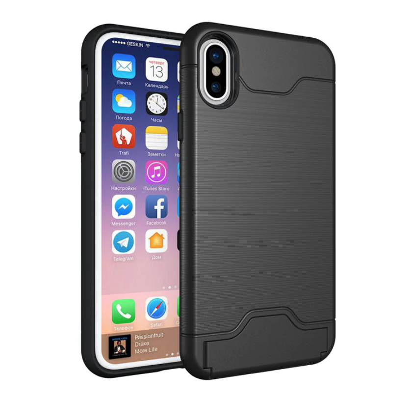 Armor Shockproof Card Slot Case Both sides