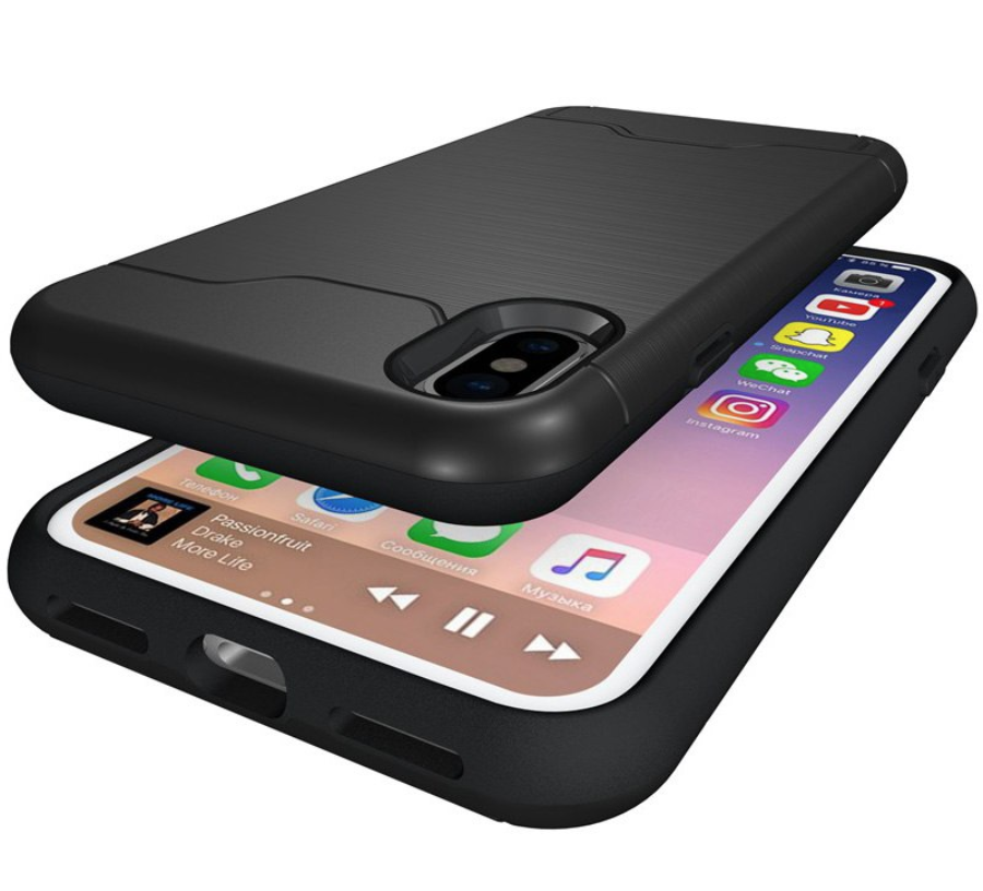 Armor Shockproof Card Slot Case Sideways