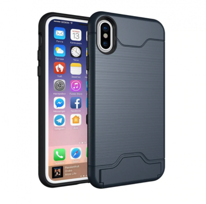 Armor Shockproof Card Slot Case Blue