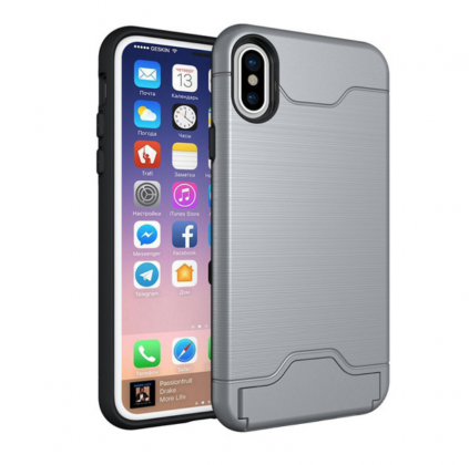 Armor Shockproof Card Slot Case Grey