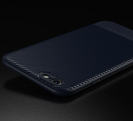 Thin Carbon Fiber Case Blue