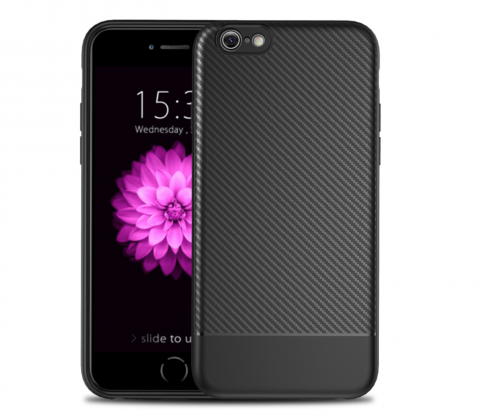 Thin Carbon Fiber Case Black Two Sides