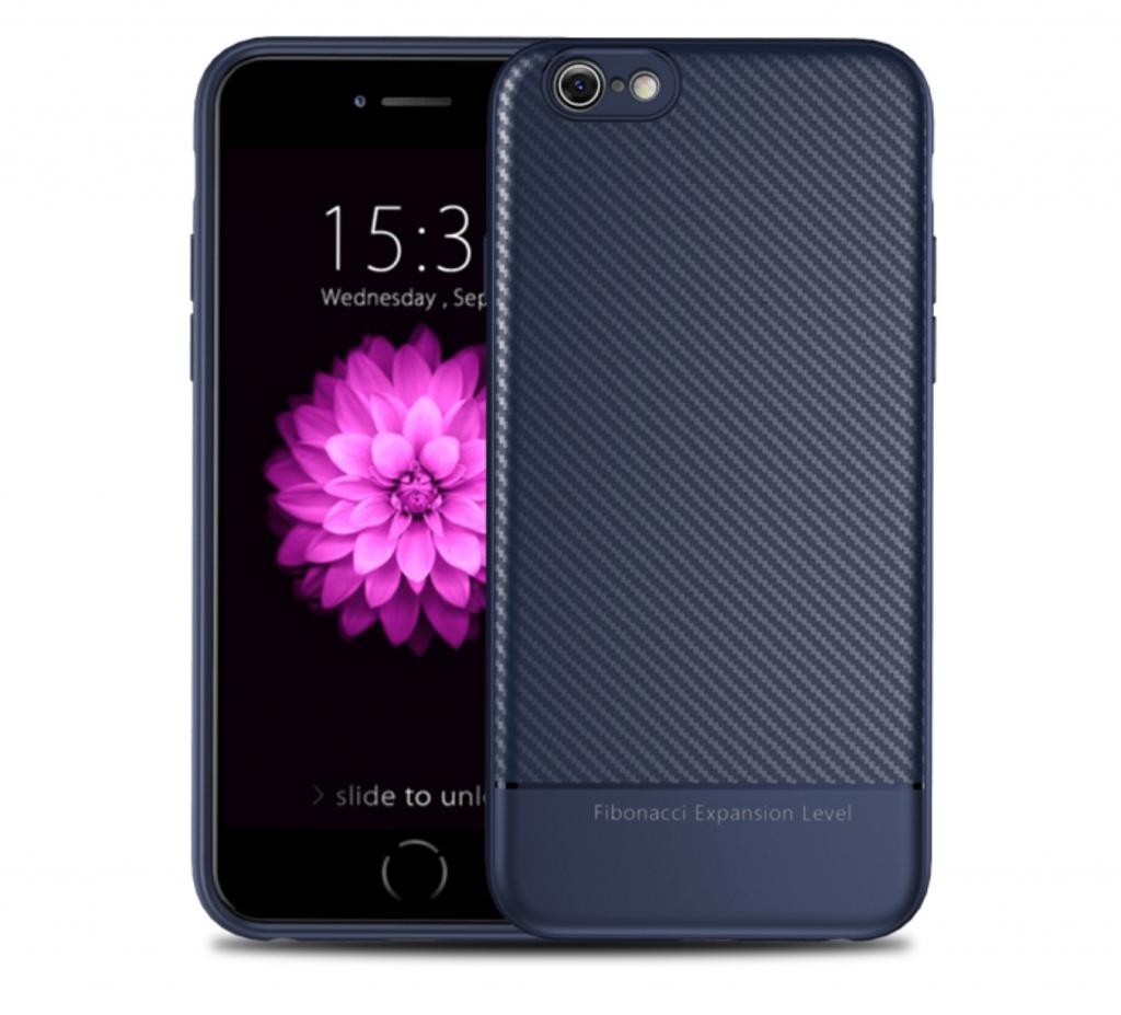 Thin Carbon Fiber Case Blue Two Sides