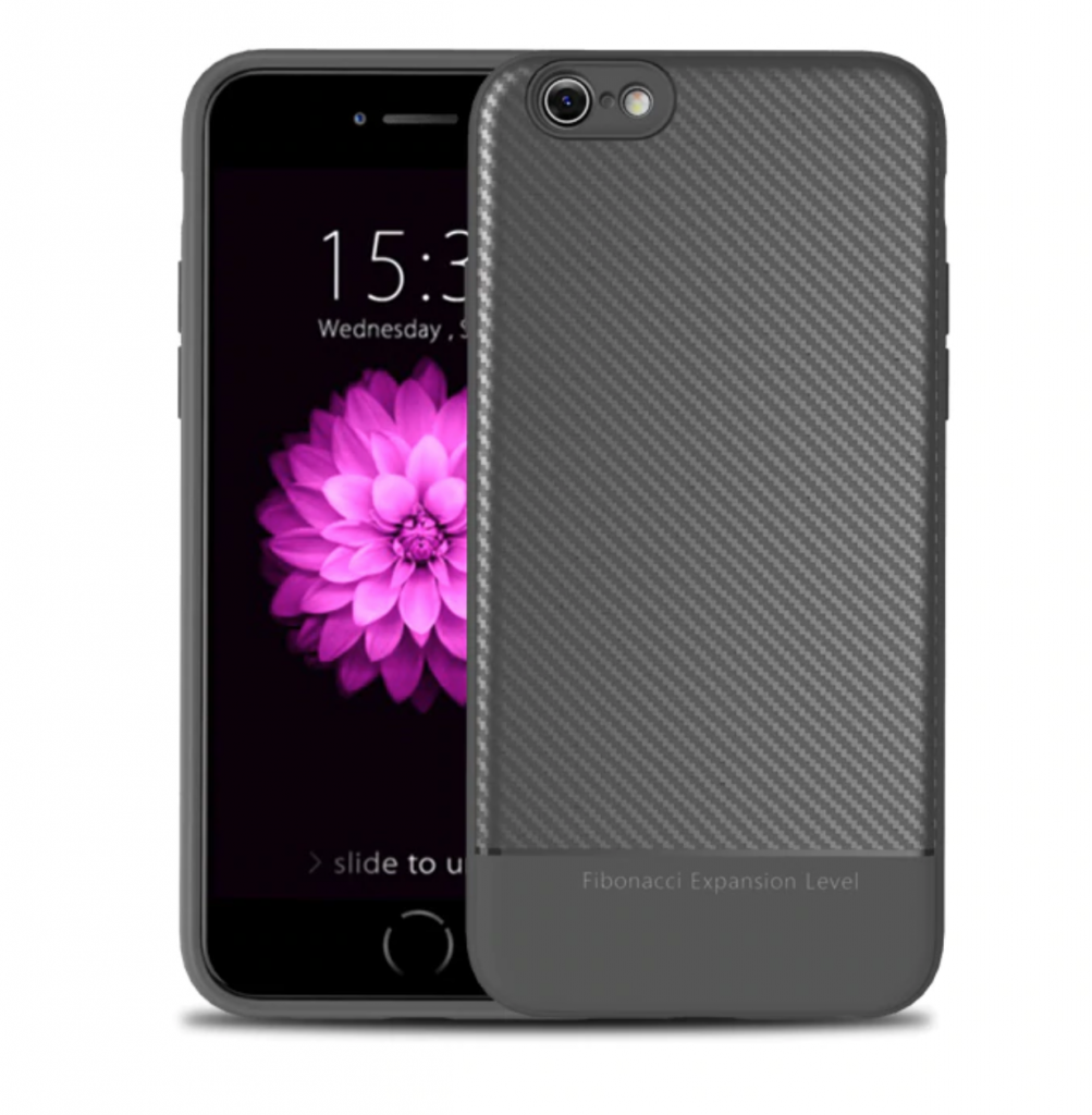 Thin Carbon Fiber Case Grey Two Sides