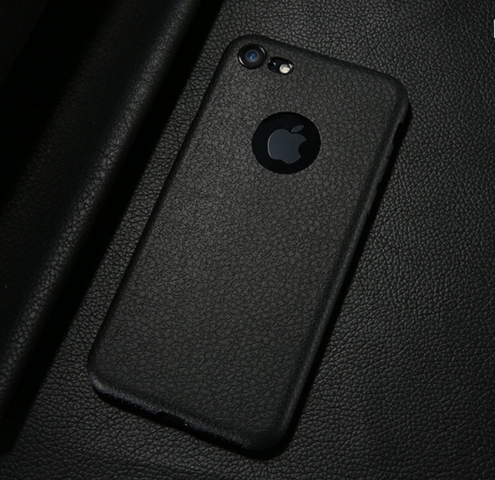Black Ultra Thin Soft Leather Case