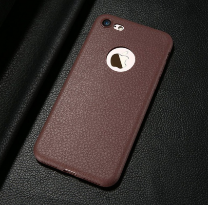 Brown Ultra Thin Soft Leather Case
