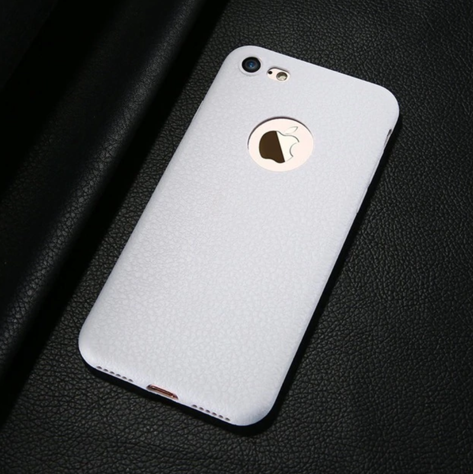White Ultra Thin Soft Leather Case