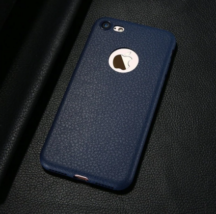Blue Ultra Thin Soft Leather Case