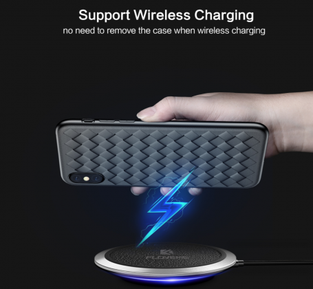 Grid Weave Silicone Case Wireless Charging