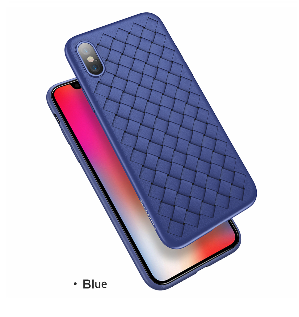 Grid Weave Silicone Case Blue