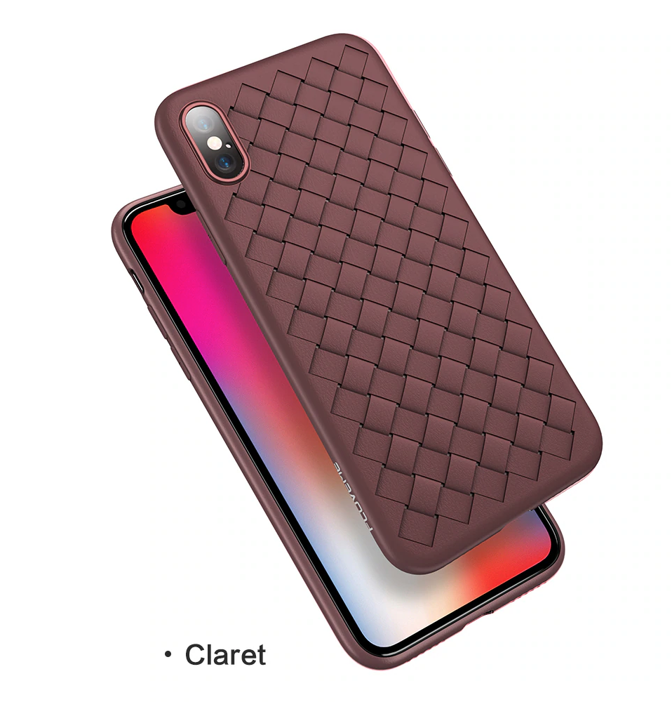 Grid Weave Silicone Case Red
