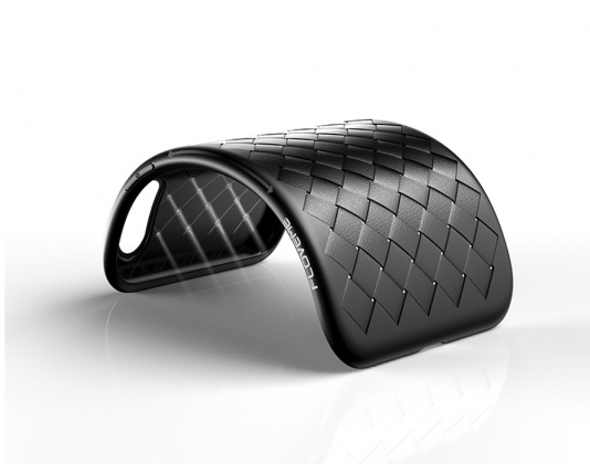 Bending Grid Weave Silicone Case