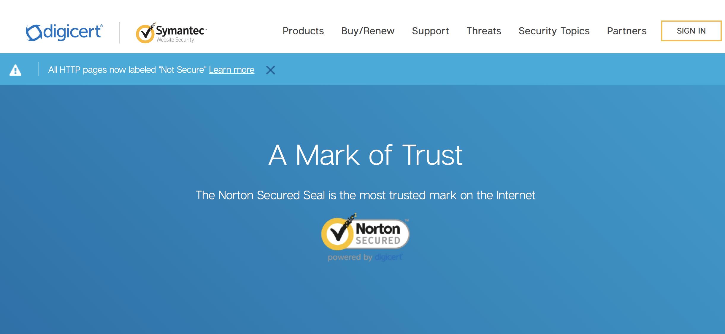 digicert mark of trust