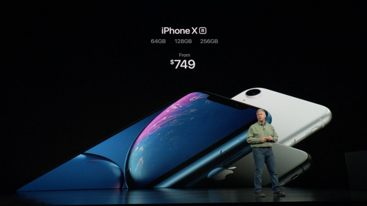 iPhone XR costs $749
