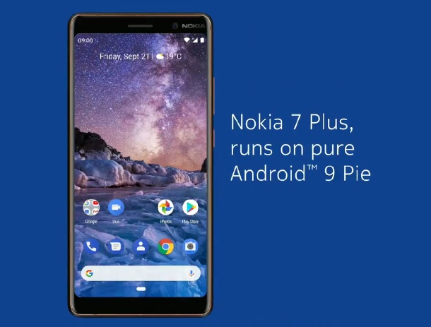 Nokia 7 Plus Android 9.0 Pie