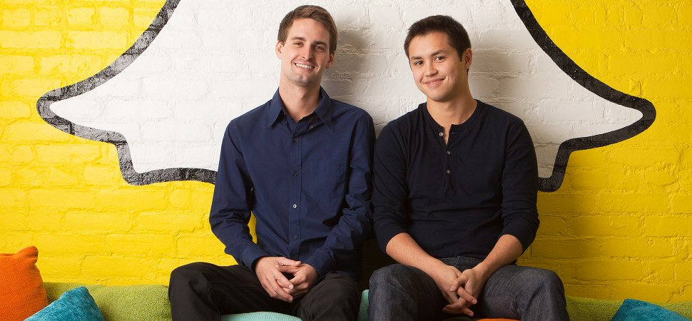 Snapchat founders Evan Spiegel (left) and Bobby Murphy (right)