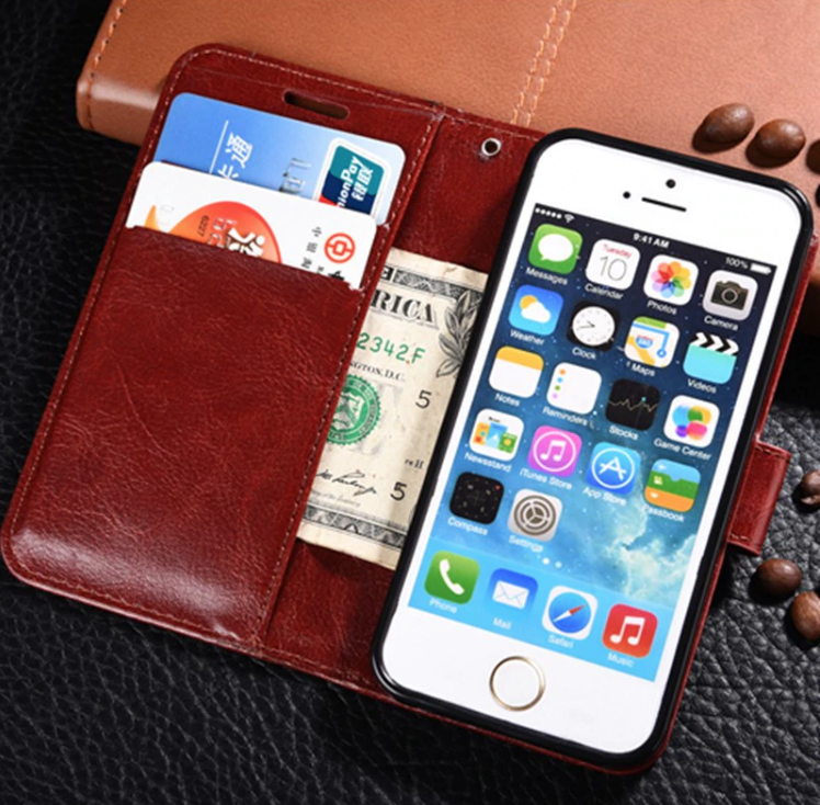 Flip Wallet Leather iPhone Xs Max Card Holder Case