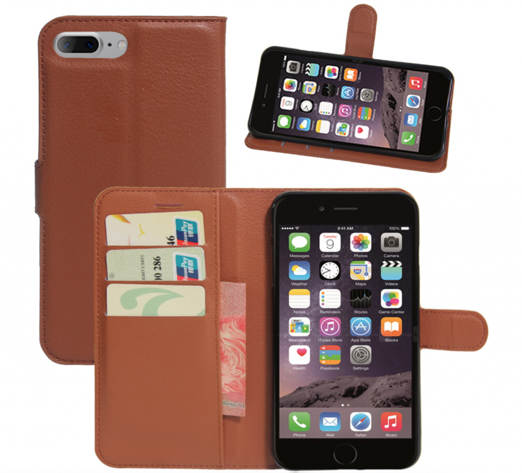 Luxury Kickstand Leather iPhone Xs Max Card Holder Case