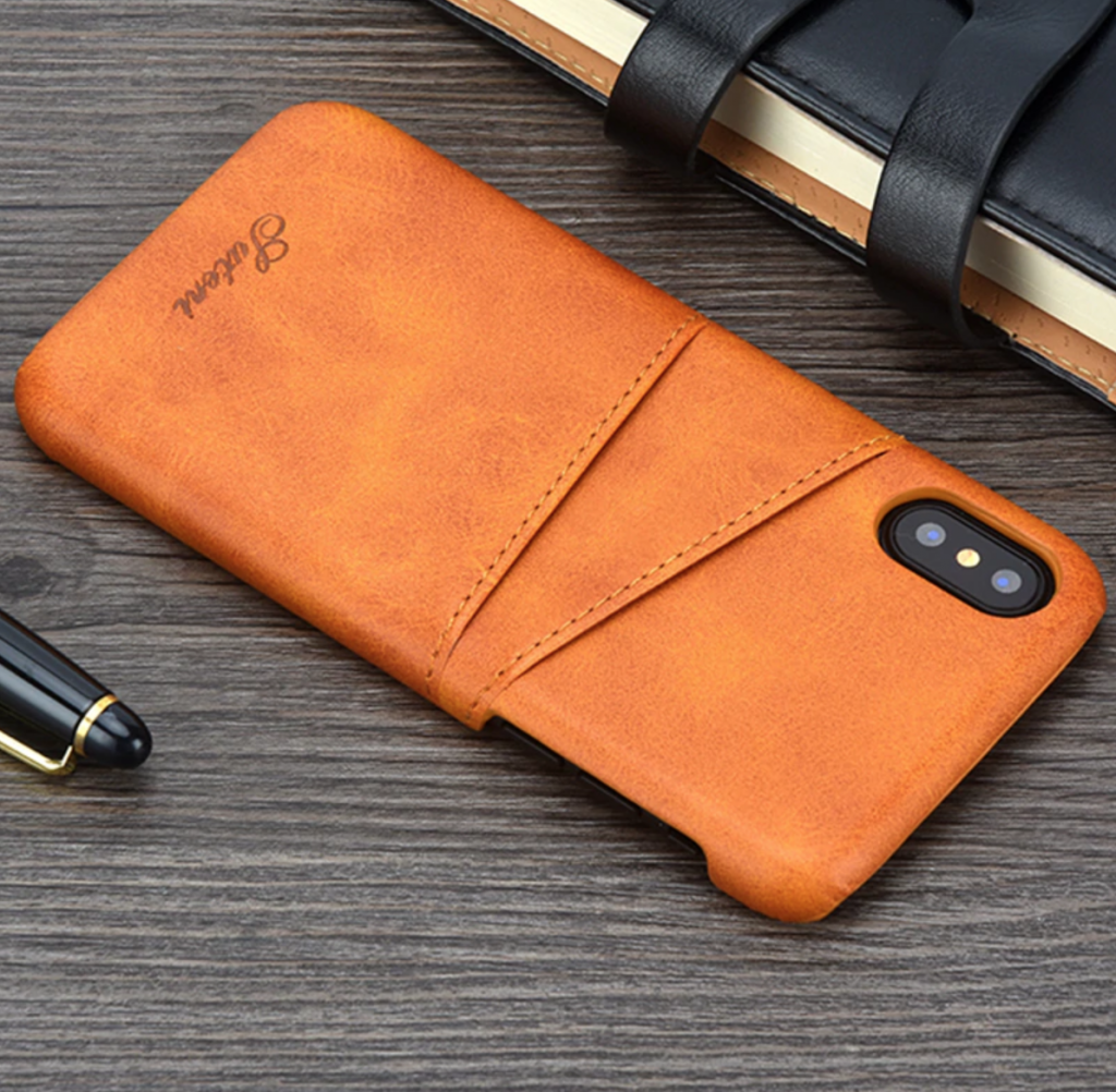 Luxury Leather iPhone Xs Max Card Holder Case
