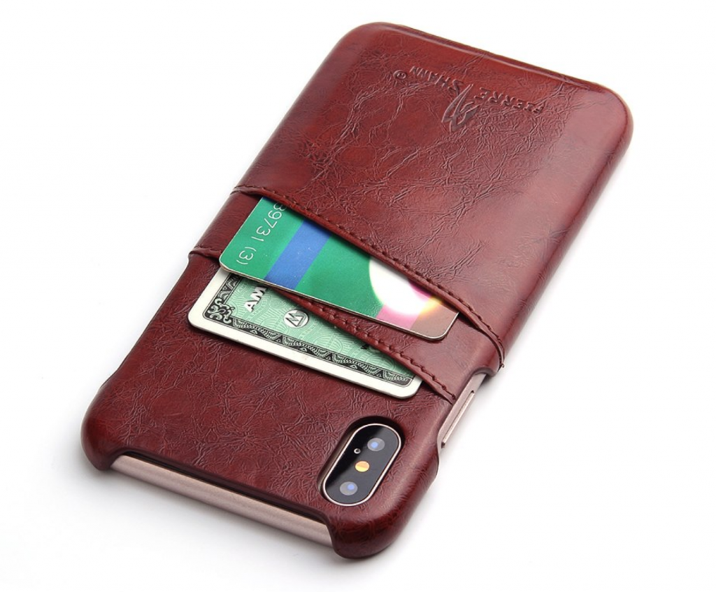 PU Leather Wallet iPhone Xs Max Card Holder Case