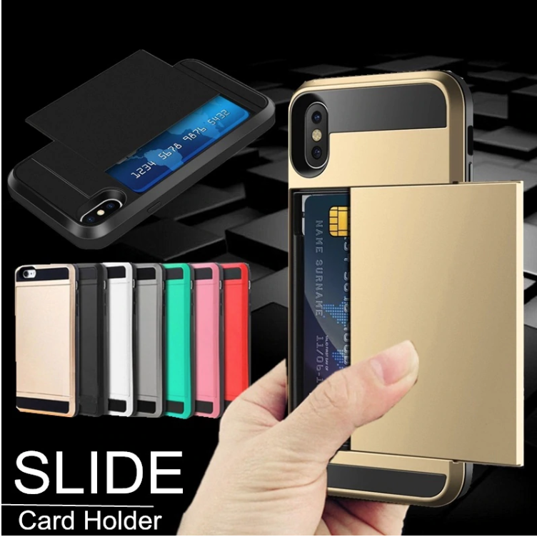 Sliding iPhone Xs Max Card Holder Case