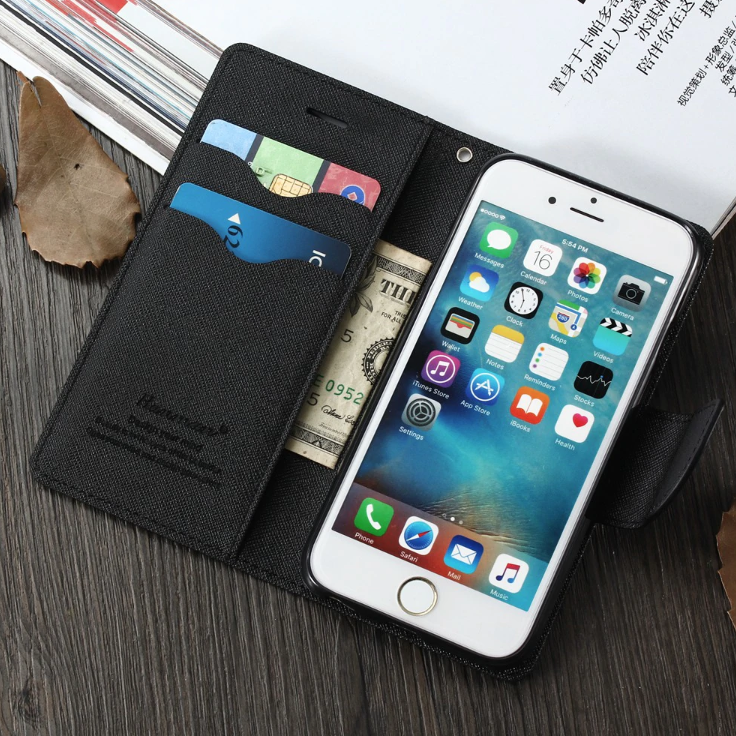 Thin Leather iPhone Xs Max Card Holder Case