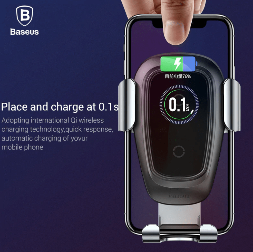 Best Wireless Charger Air Vent iPhone Xs, iPhone XR, and iPhone Xs Max Car Mount