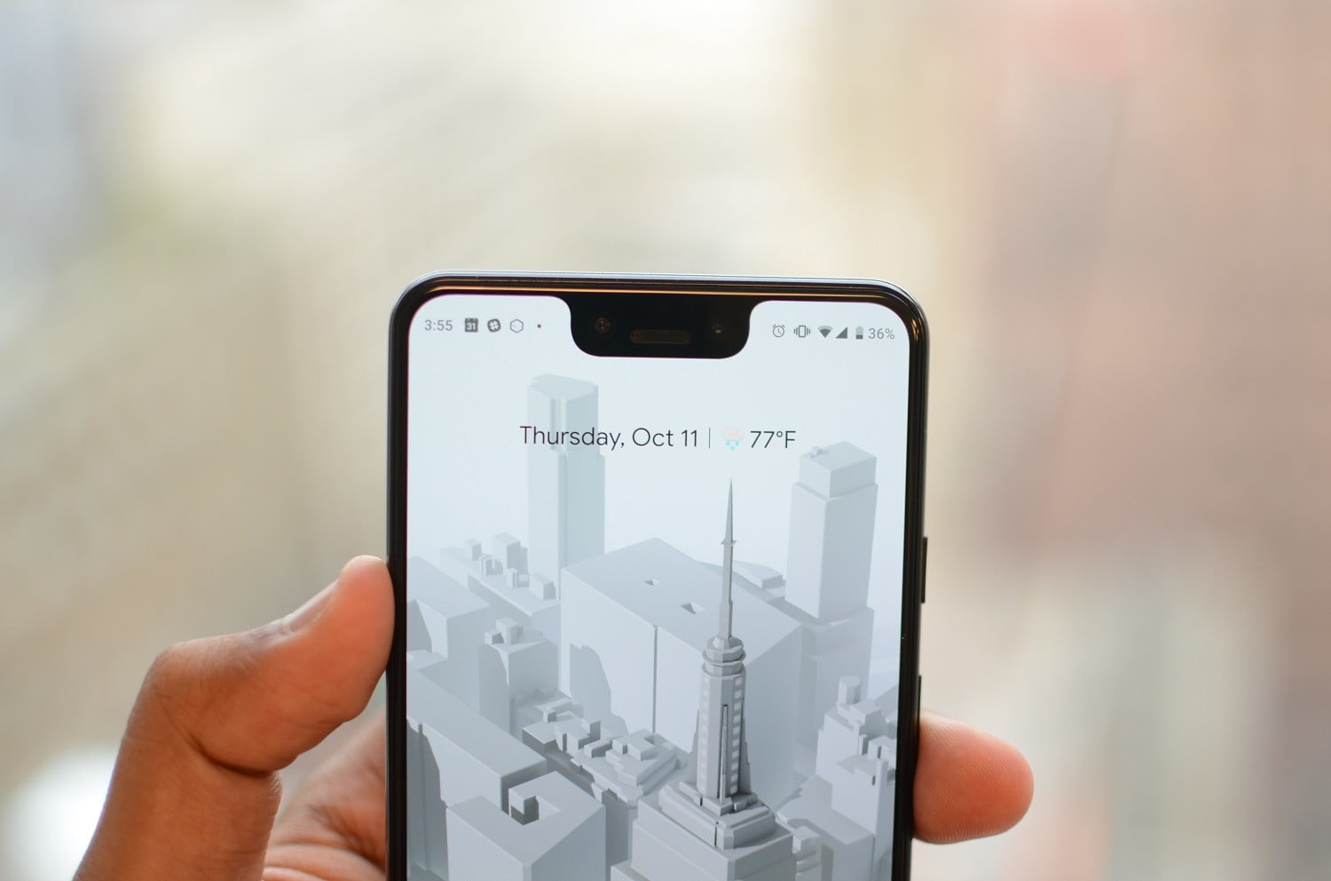 Pixel 3 XL notched