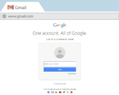 GMail login URL